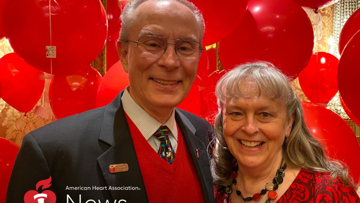 Stroke survivor Doug Tapking with his wife, Karen