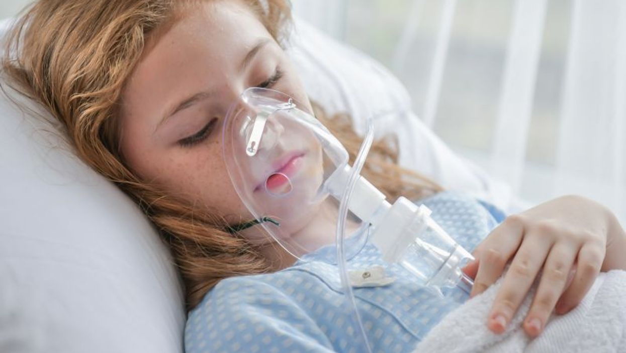 sick child in hospital