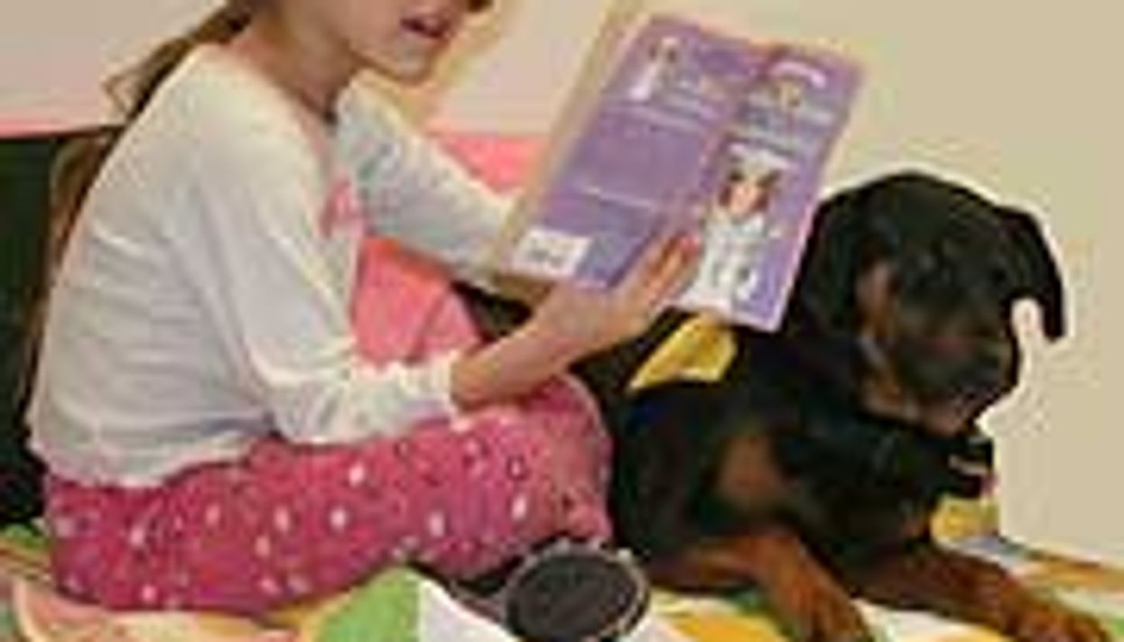 Reading Comes Easier for Kids When Rover's Around