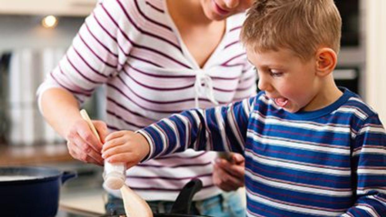 Los niños y la cocina