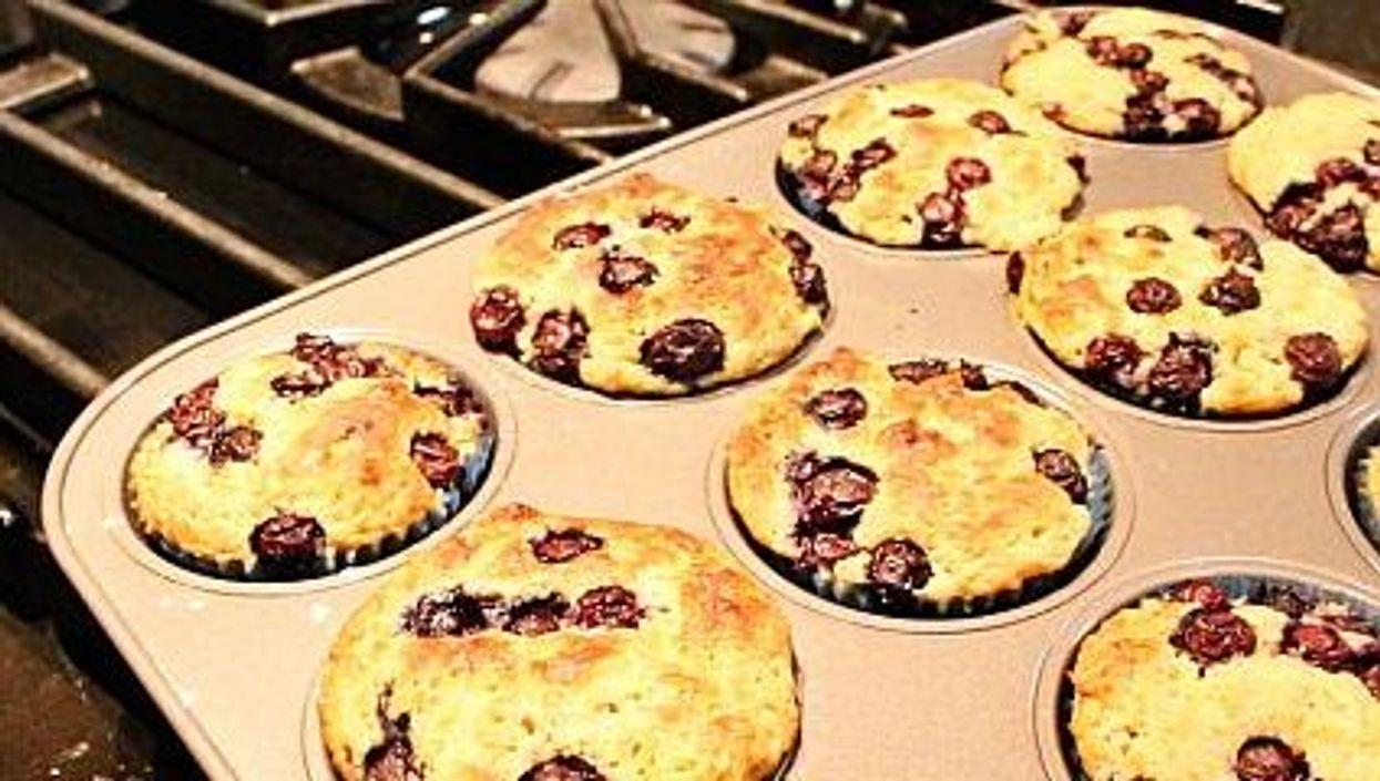 Lighten Up: Blueberry Buttermilk Muffins