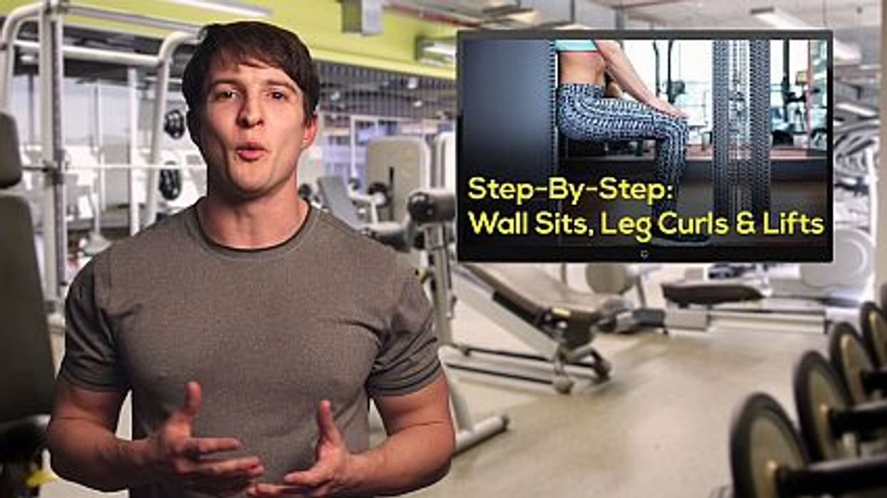 Step-By-Step: Wall Sits, Leg Curls and Lifts