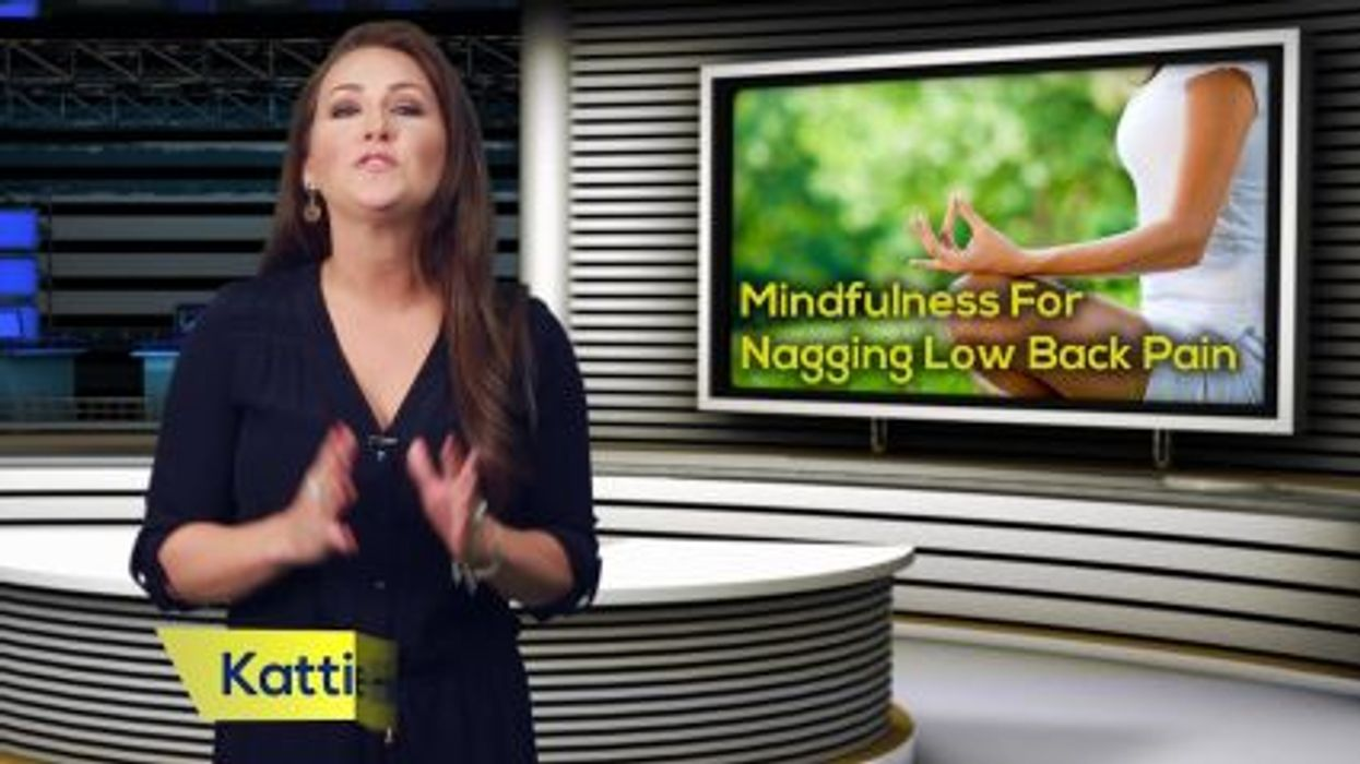 Mindfulness For Nagging Low Back Pain