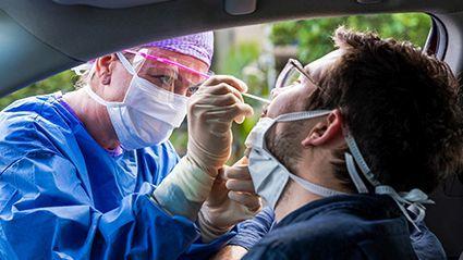 News Picture: Had Sinus Surgery? Better Skip Nasal Swab COVID Test