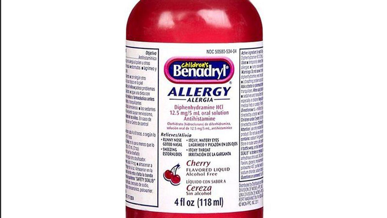 Bottle of Benedryl