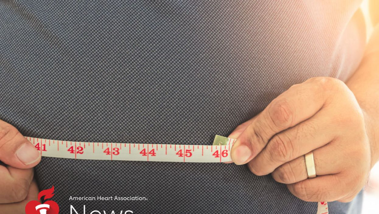 a person measuring his belly