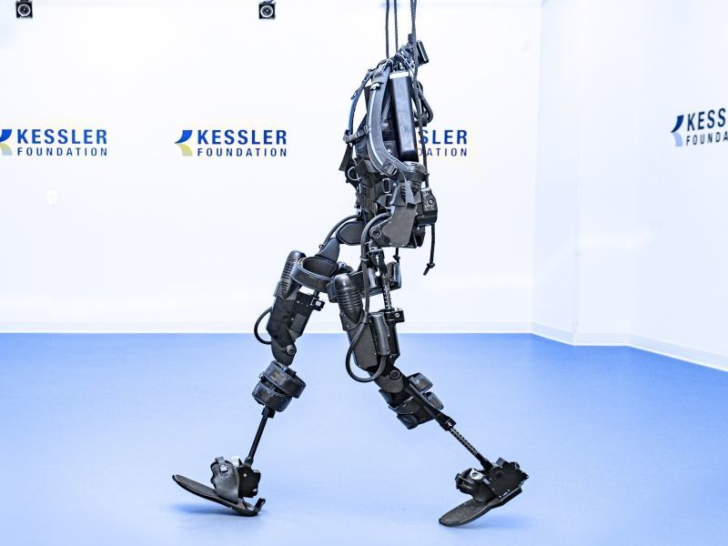 News Picture: Exoskeleton Helps Paralyzed People Walk Again