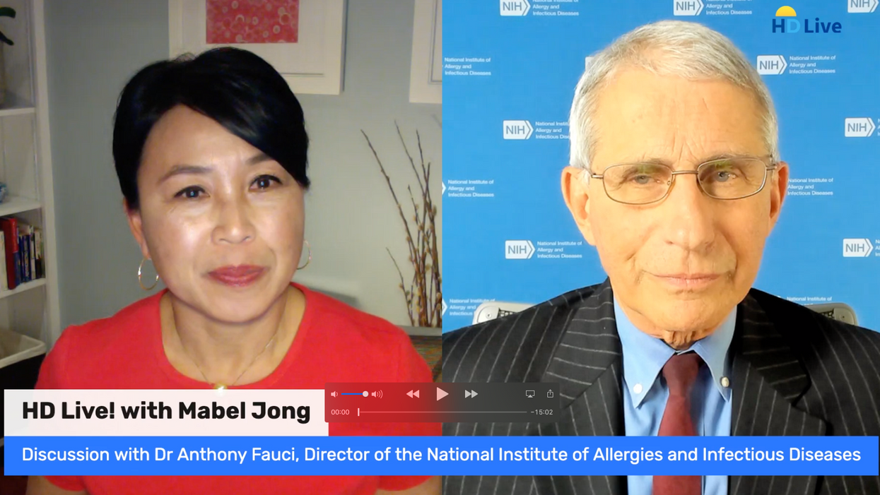 Fauci Calls for Americans to Pull Together, Says 'Help Is on the Way'