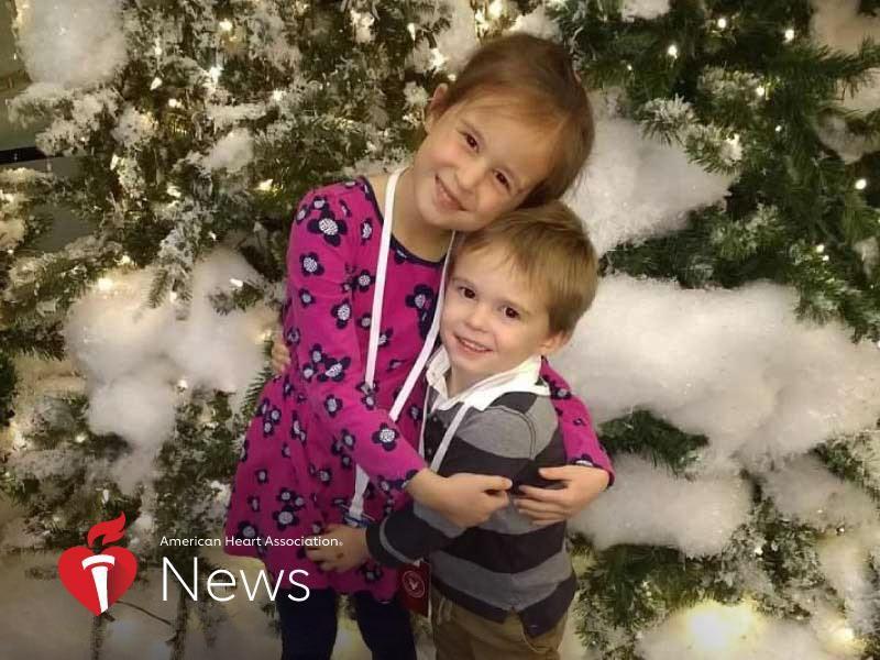 AHA News: Two Kids, Same Heart Defect: 'Like Having Lightning Strike the Same Place Twice' thumbnail