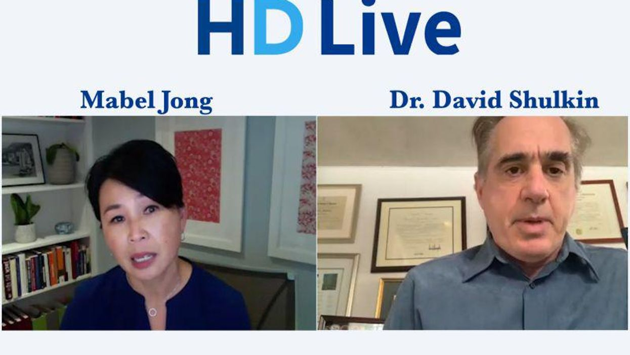 Maybel Jong and Dr David Shulkin