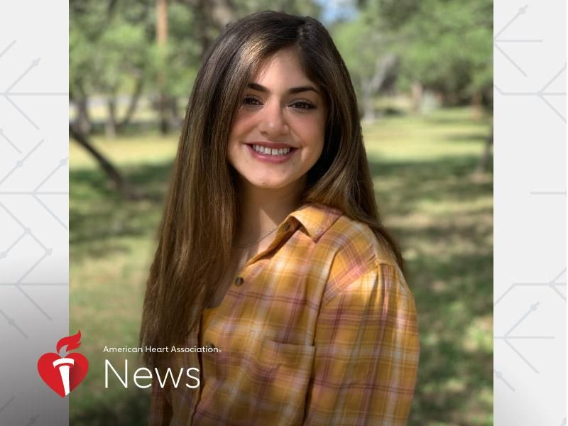 News Picture: AHA News: Teen's Scars Tell a Story of Her Frightening First 2 Years