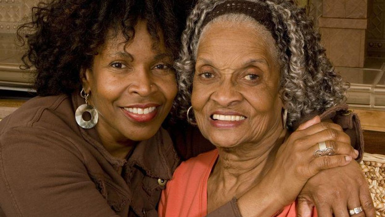black grandmother caregiver Alzheimer's elderly family
