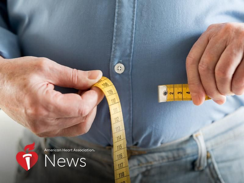 News Picture: AHA News: Waist Size May Better Predict AFib Risk in Men
