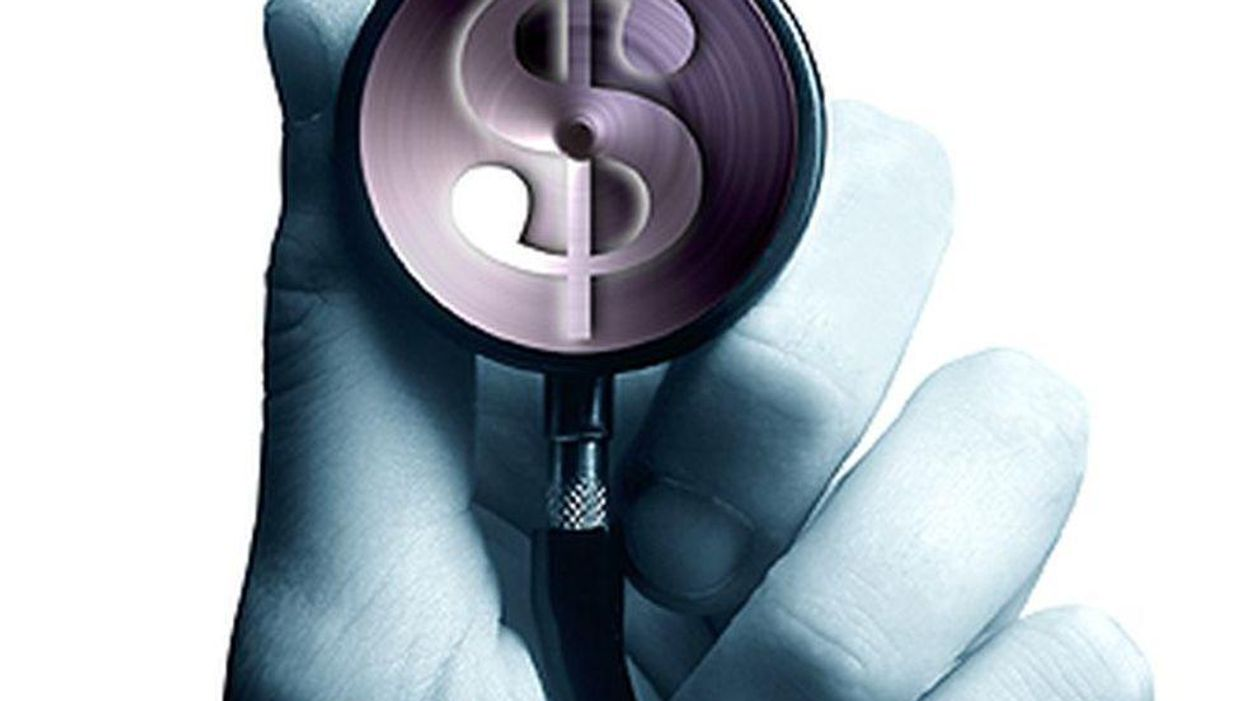 stethoscope with a dollar sign