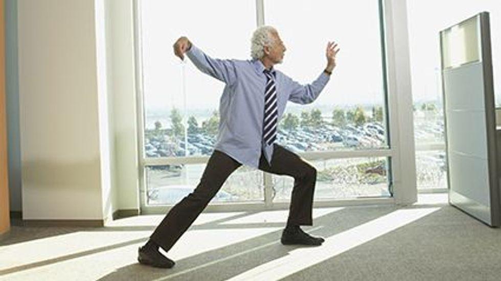 """Taichi igual ao exercício """"regular"""" para diminuir a barriga"""