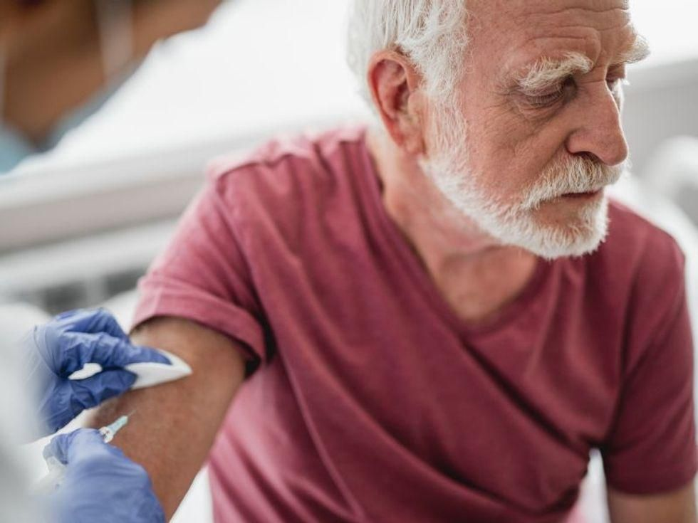 News Picture: Low Vaccination Rates for Seniors in 11 States a 'Powder Keg' for New Cases