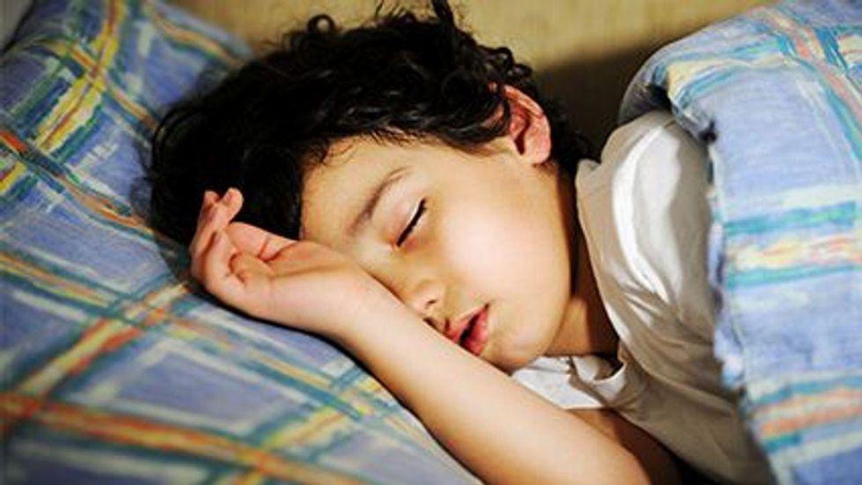 a child asleep