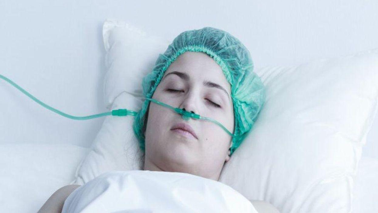 female in coma