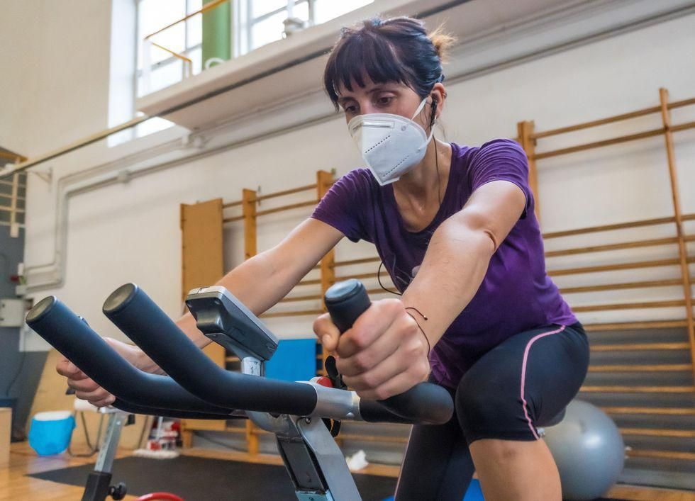 News Picture: Masks at the Gym: Uncomfortable But Not Unsafe, Study Finds