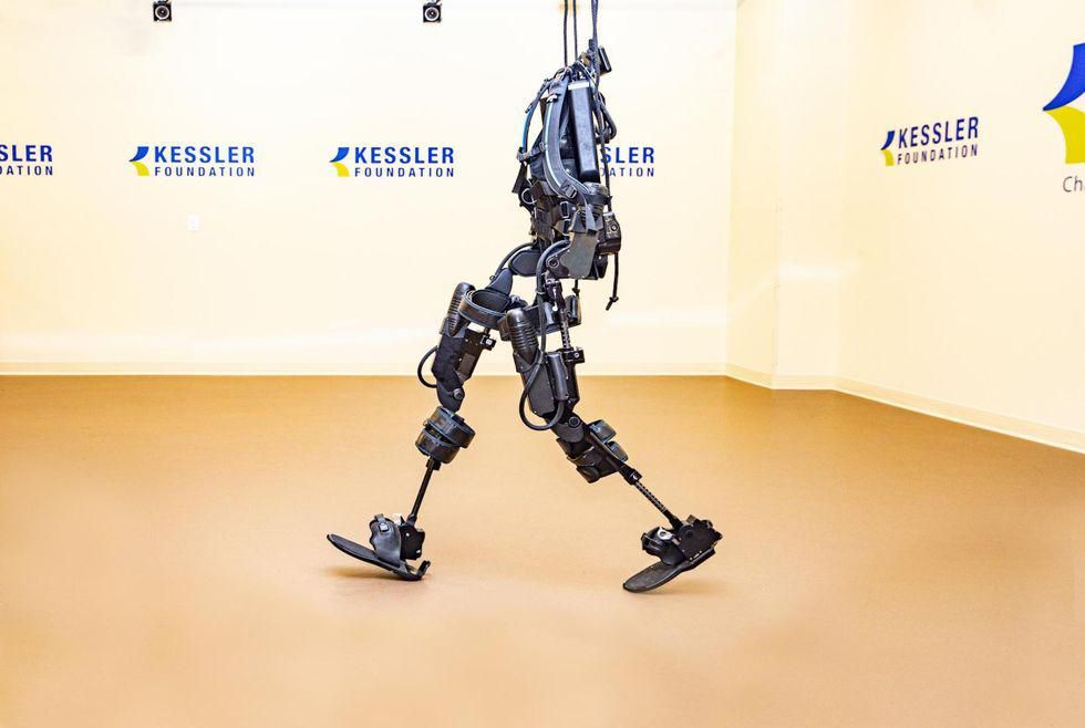 News Picture: High-Tech Exoskeletons Improve Bowel Function in People With Spinal Cord Injury