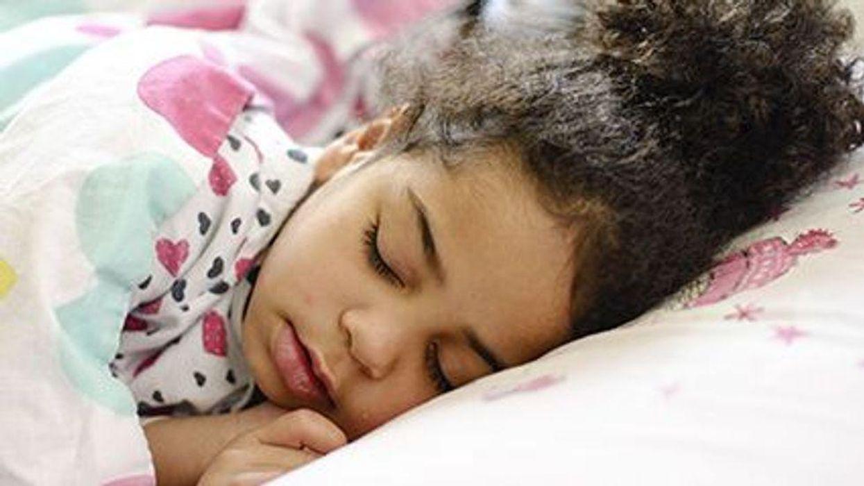 a girl sleeping