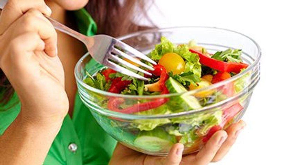 a bowl of fresh salad