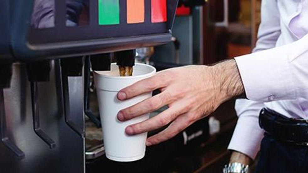 News Picture: Average Soda Fountain Serving Exceeds Daily Recommended Added Sugars