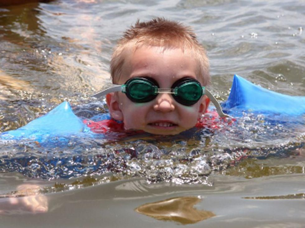 News Picture: Could Kids Swim Their Way to Better Vocabularies?