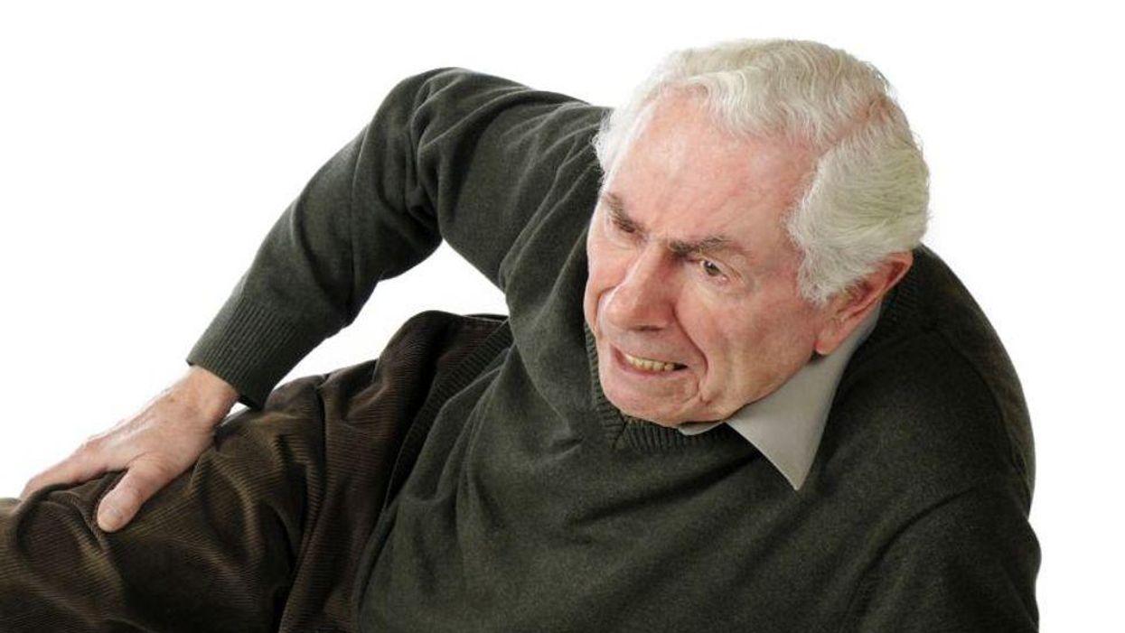 elderly man after falling