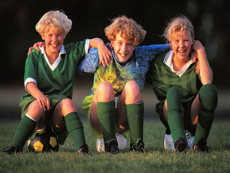 News Picture: When Are Head Injury Risks Highest for Young Soccer Players?