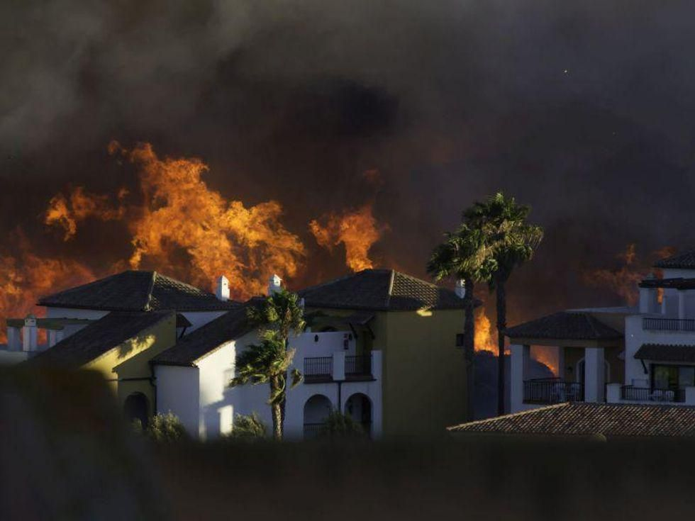 News Picture: Double Trouble: Wildfires Can Raise COVID Risks
