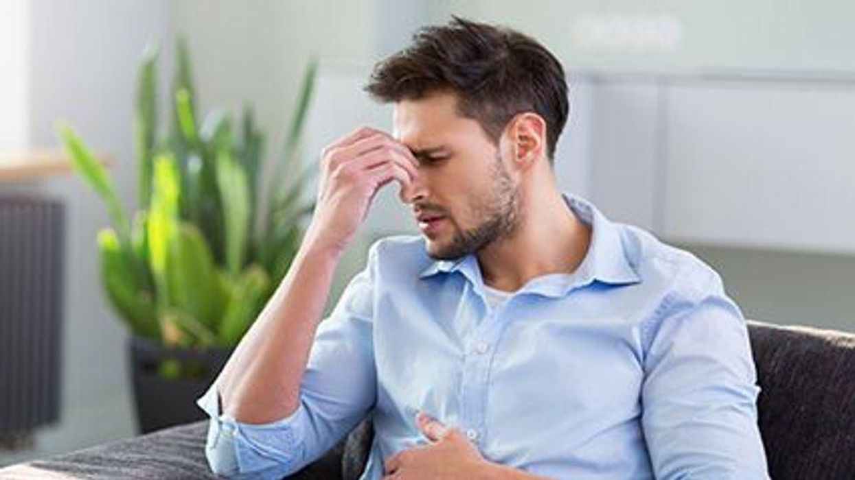 man showing the signs of stress