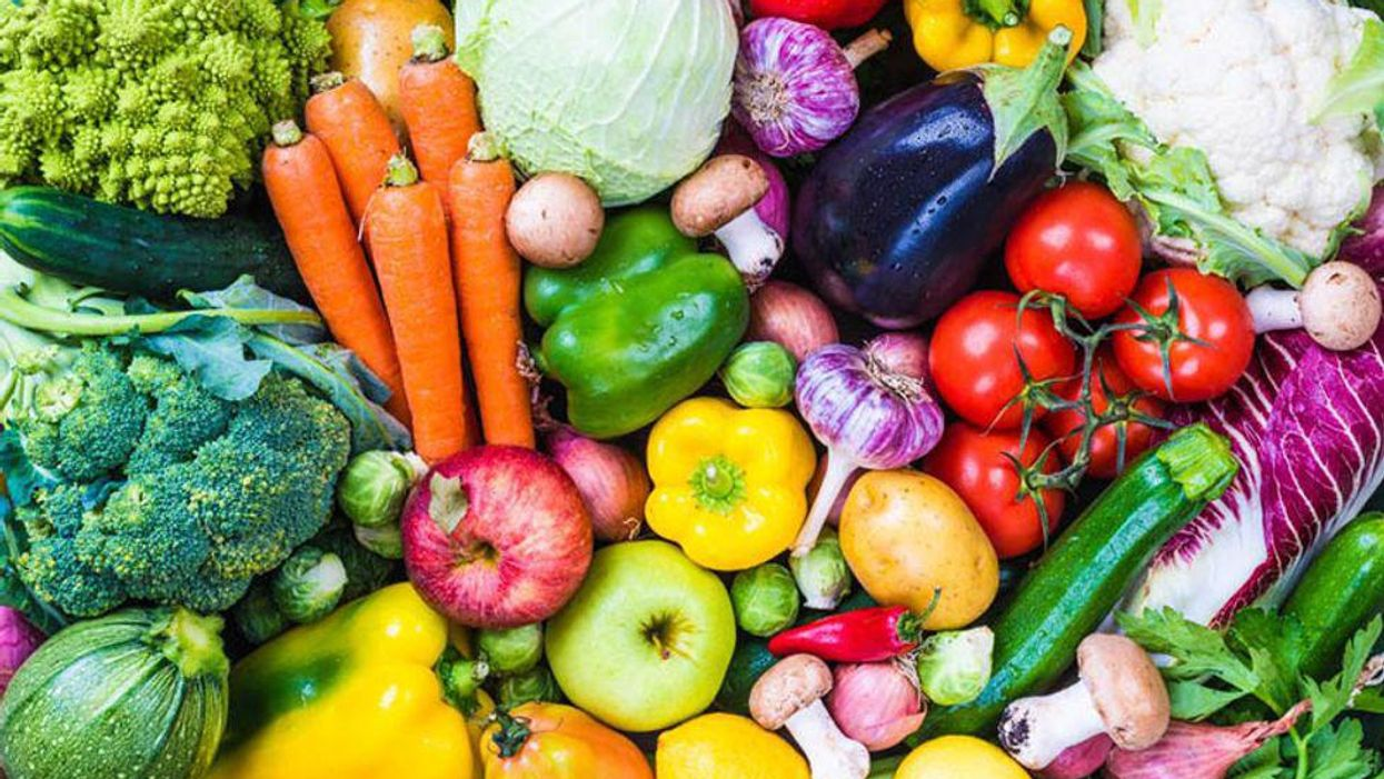 different types fruits and vegetables
