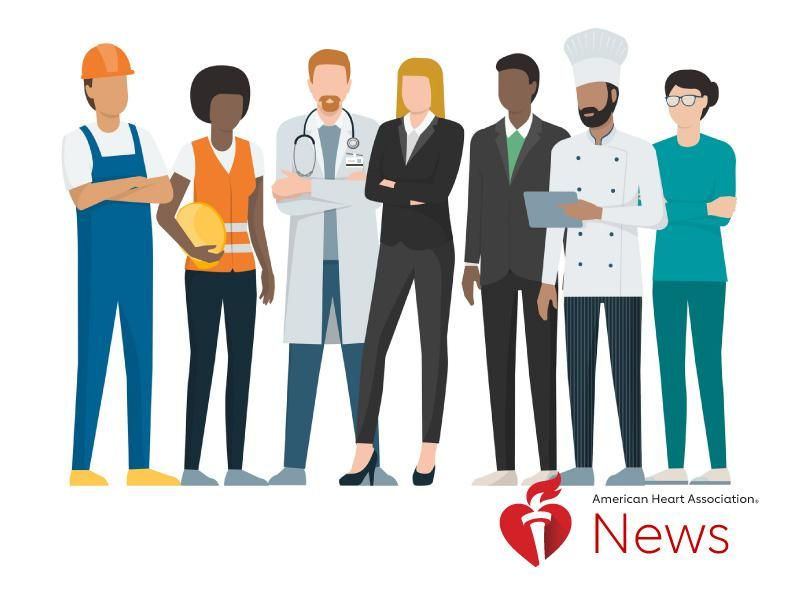 News Picture: AHA News: How Your Job Can Affect Your Heart Health