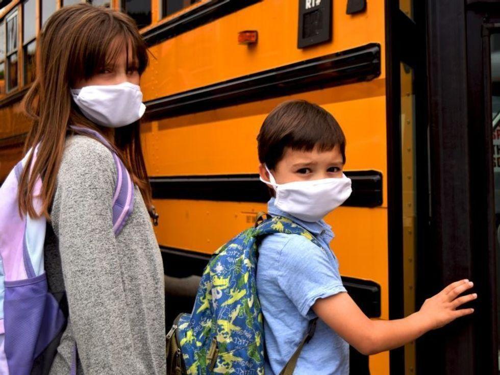 News Picture: Battle Over School Mask Mandates Heats Up