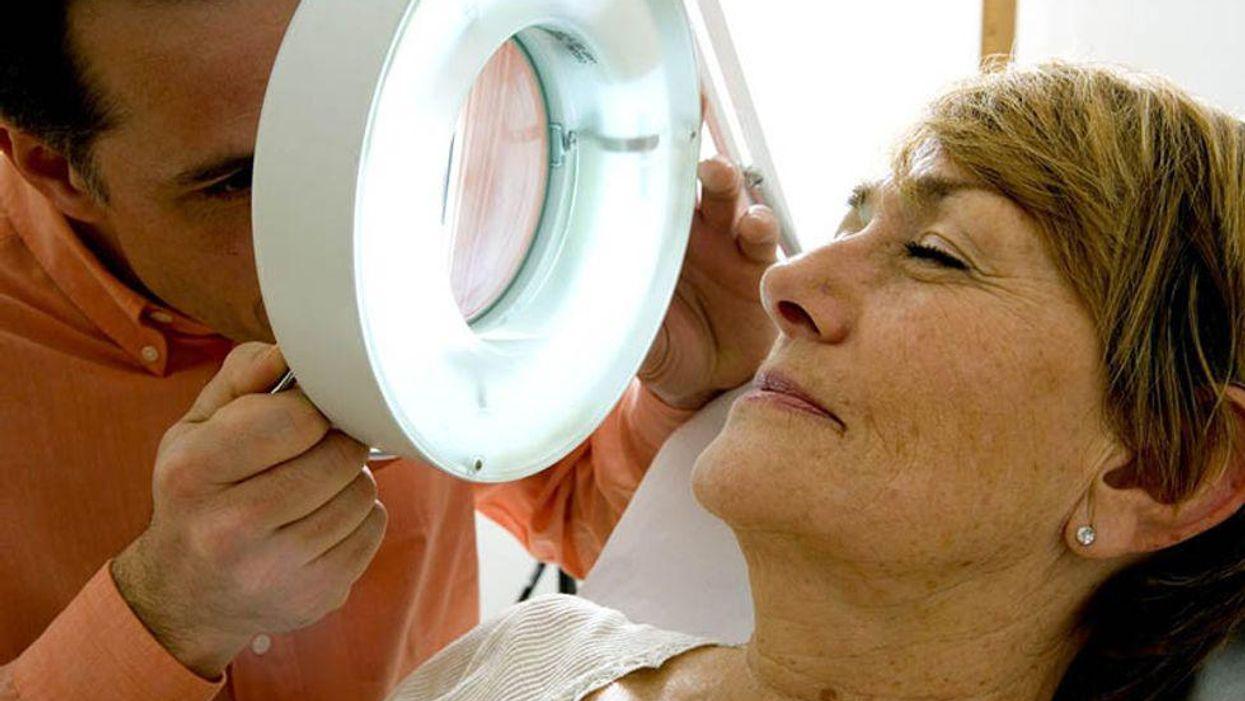 facial skin examination