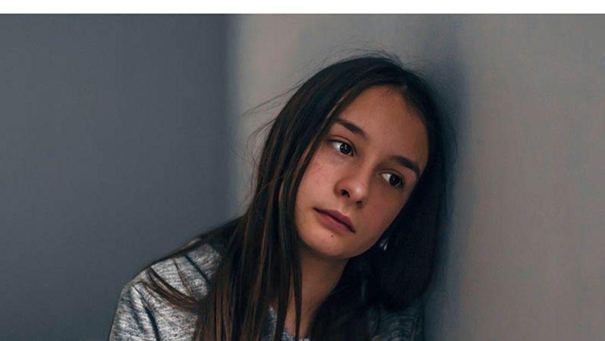 girl looking worried