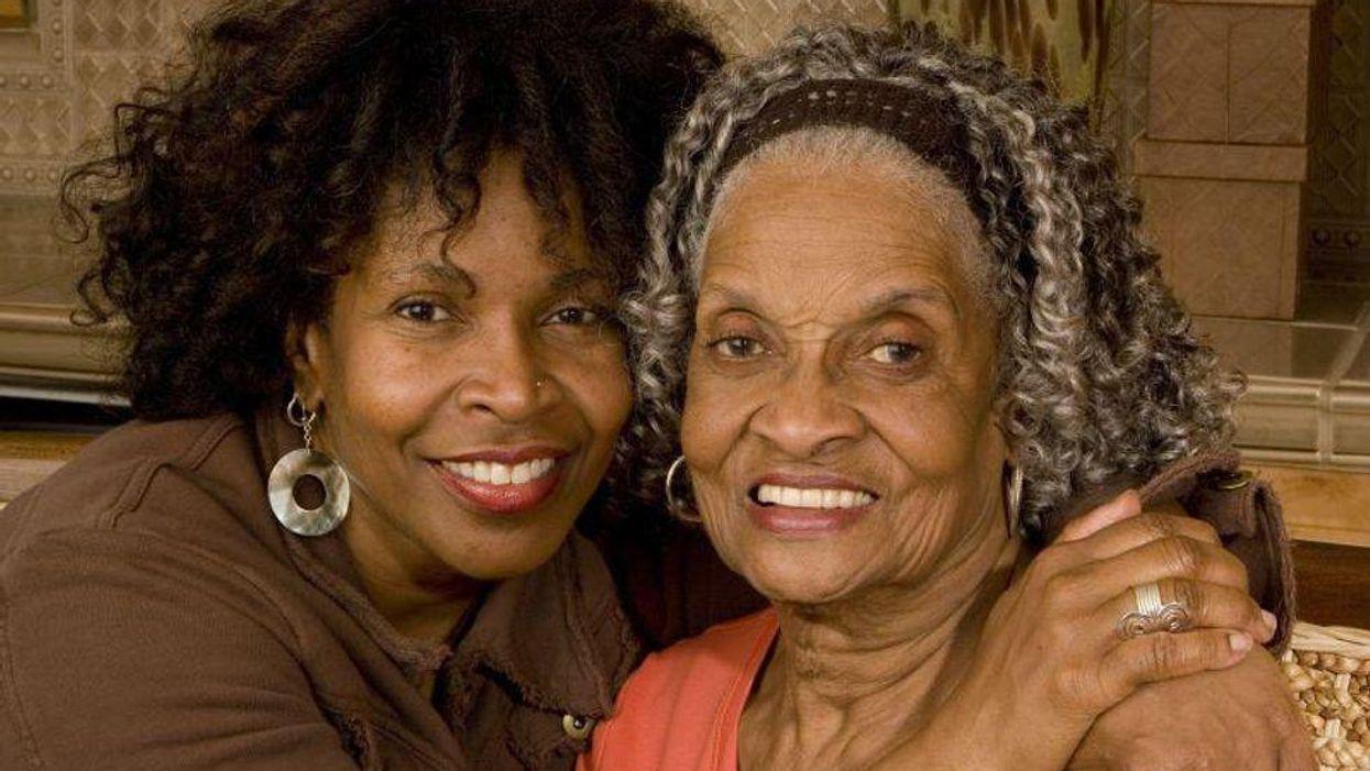 black grandmother caregiver Alzheimer's elderly family