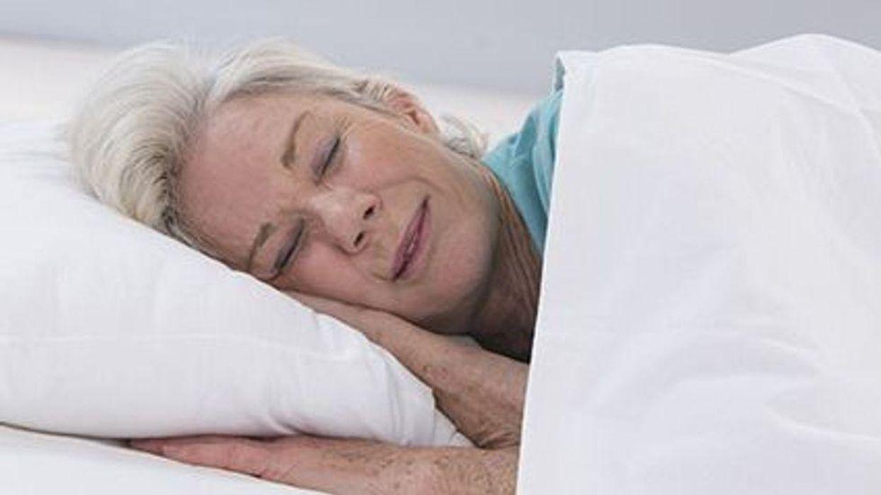 Older woman sleeping
