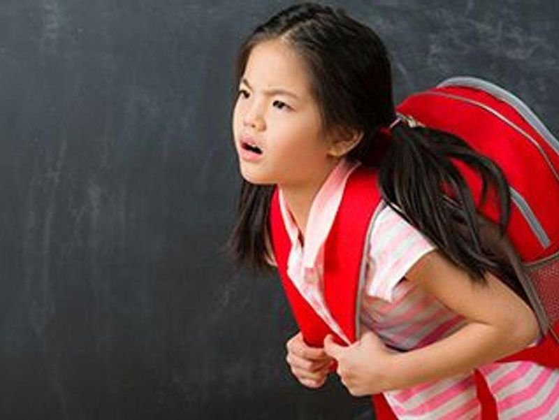Watch Their Backs -- Don't Overload Those Schoolbags
