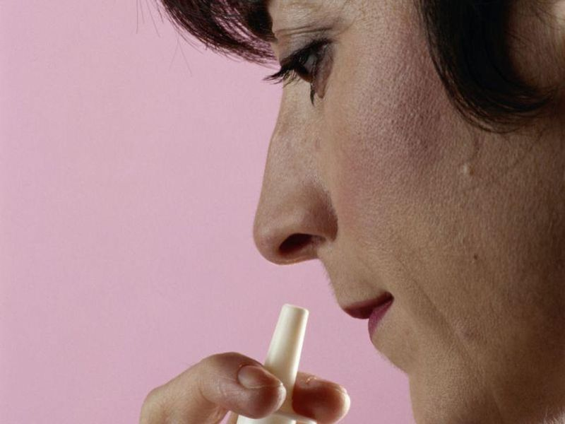 News Picture: Saline Spray Could Slow COVID's Spread in the Lungs: Study