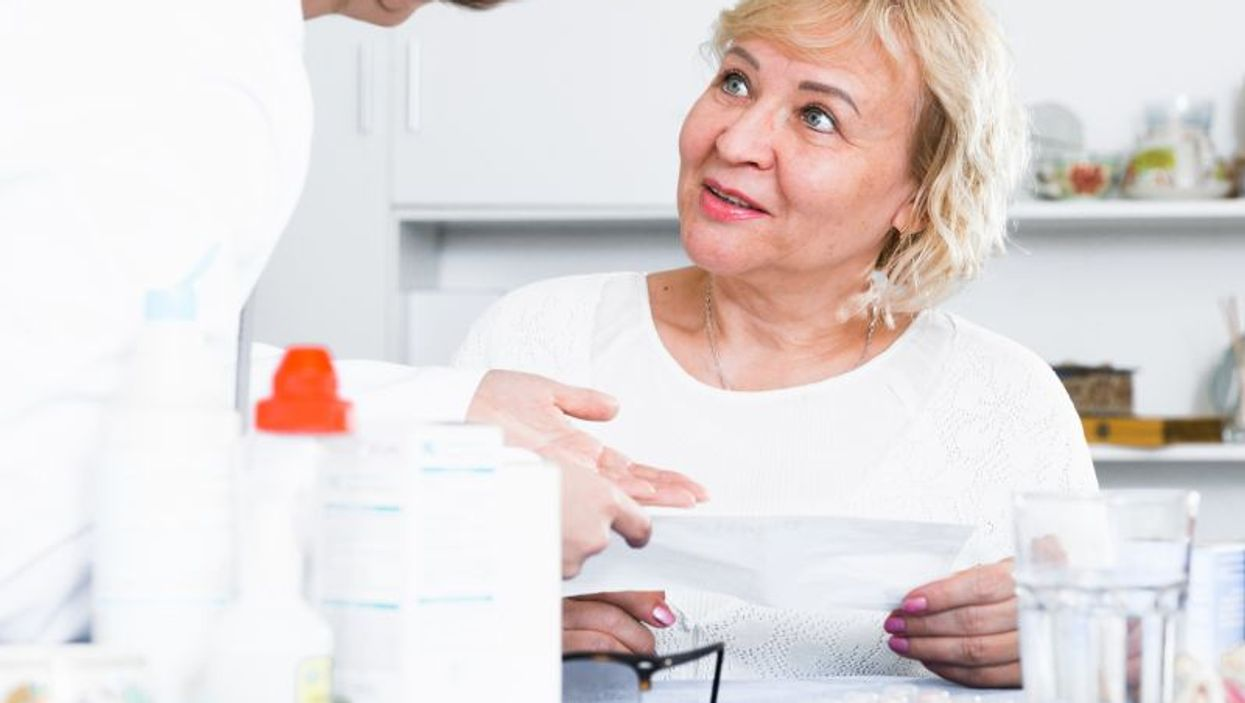 menopausal woman and doctor