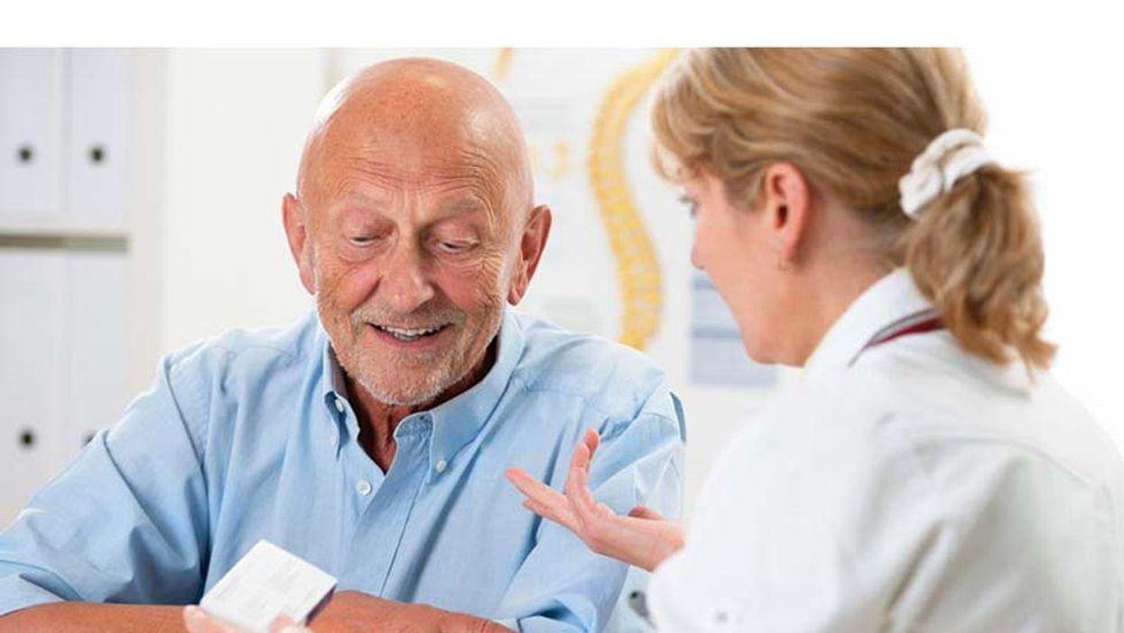 elderly man at medical checkup