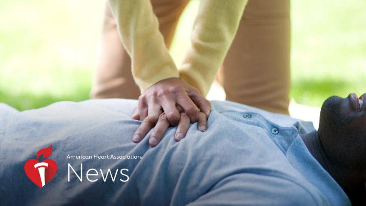 AHA News: Cardiac Arrest Program May Improve Bystander CPR But Not Survival in Black People